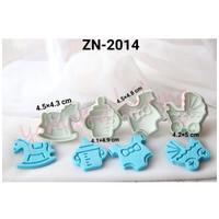 ZN-2014 Plunger cutter bento fondant cookie baby shower tema