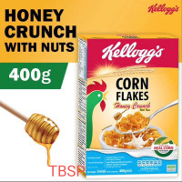 Kelloggs Corn Flakes Honey Crunch 400 g with nuts Sereal Sarapan