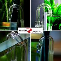 Sambungan Selang U Shape / Pipe Glass Kaca Co2 Diffuser Aquascape