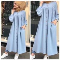 baju LONG DRESS muslim gamis wanita KANAYA konveksi murah tanah abang