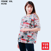 BL - FERGIE Baju Kaos Atasan XXL Jumbo T-Shirt Murah Wanita Kekinian