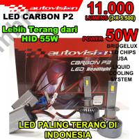 Lampu LED Autovision Carbon P2 H11 50W 11000 Lumens Super Terang