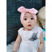Turban Bayi Simpul - Turban Bayi Balita 0-3th - Bando Bayi - Kerudung