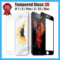 iPhone 7 8 X Plus Tempered Glass 3D Full Cover Curved Screen Guard