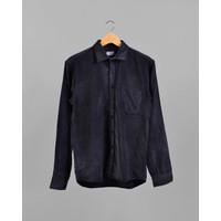 Floyd Corduroy Shirt in Blue Black