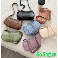 Tas Shoulder Bag Wanita Mini Croco Fashion Korea Terbaru Import [SL45]