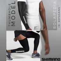 BUNDLING SHIMANO Arm sleve Leg warmer armsleeve sepeda manset tangan