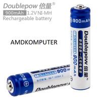 Baterai BATERE Batre AAA DoublePow Rechargeable Recharge 1Pc 900Mah