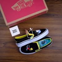 Sepatu Vans x The Simpsons Slip On Homer and Bart Black Yellow White