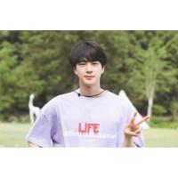 Kaos T-shirt BTS JIN LIFE differentbutsame Free Foto