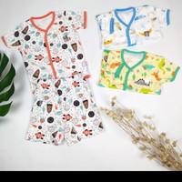 setelan baju bayi little Q/baju harian/baju lengan pendek ukuran M