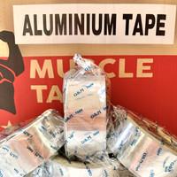 LAKBAN ALUMINIUM FOIL TAPE TAHAN PANAS & AIR ( 40 mm x 19 Mtr)