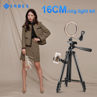 INBEX 6'' Ring Light With 3120 Tripod Stand & Phone Holder for Makeup
