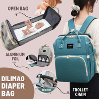 Multifunctional Baby Diaper Bag-Travel Bed - DILMAO HIJAU