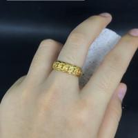 cincin emas asli model rante rantai kadar 700 70% 18k 22 2gram 10 11 1