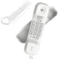 Alcatel T06 Ultra Slim Telepon Rumah Single Line Analog Telephone - Putih