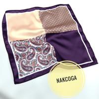 Sapu tangan jas blazer Hanky Pocket square coklat polos motif