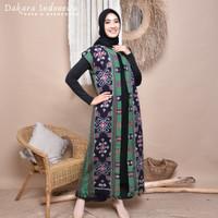 Gamis Dress Salsabilla Tenun Ikat Dakara Indonesia