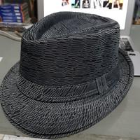 Topi Pria Fedora Jazz Vintage Premium - abu tua