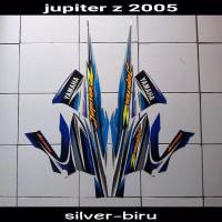 Striping sticker lis body yamaha jupiter z thn 2005 silver biru