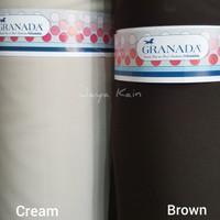 Bakal Bahan Kain Seragam Dinas warna cream dan coklat merek Granada