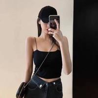 Blus Crop Top Wanita Halter Neck Tanpa Lengan Backless Sexy Untuk Musi