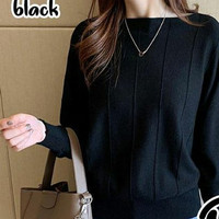Atasan wanita Rajut Import - Black, All Size