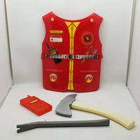 Mainan Anak Kostum Baju Profesi Firefighter / Pemadam Kebakaran Tameng