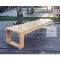 bangku kayu jati panjang minimalis (rak, meja, kursi&sofa, lemari)