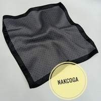 Pocket square hitam motif hanky sapu tangan jas blazer pria berkualit
