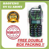 HT Baofeng UV 82 Army 5 Watt, Loreng Doreng Tentara Abri Hijau UV82 UV