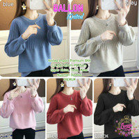 Baju Wanita Terbaru Sweater Knit Import Halus Ballon