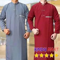 Baju Jubah Gamis Pria Muslim Pakaian Sholat Remaja Dewasa Sekolah