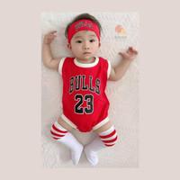 Baju basket Jersey Kobe Bryant Lakers Bulls anak / bayi (MXM) Merah
