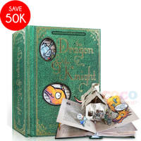 Pop Up 3D Board Book The Dragon & The Knight Buku Cerita Anak