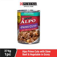 ALPO Adult Stew Beef & Vegetable Makanan Basah Anjing Dewasa 374g