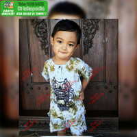 Setelan Baju Barong Bali Anak Warna Putih Usia 1 Tahun Sampai 8 Tahun