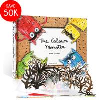 Buku Cerita Anak Pop Up 3D Board Book THE COLOR MONSTER