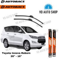 Wiper Mobil Toyota Innova Reborn 26 & 16 Frameless 1 SET Autobacs
