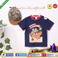 Original Afrakids AF24 Short Sleeves Biru Dongker T-Shirt Anak Laki