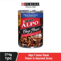 ALPO Adult T-Bone Steak Flavor Makanan Basah Anjing Dewasa 374g