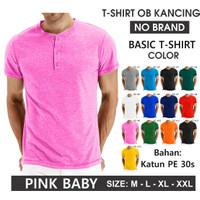 (PROMO) Kaos oblong kancing polos pria/wanita (UNISEX) seragam