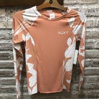 Baju renang rashguard wanita roxy original fashion pannel Ls lycra