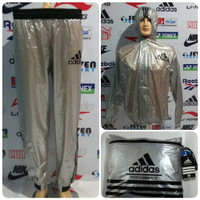 Baju Sauna Adidas Import Full Resleting / Pakaian Parasut Olahraga