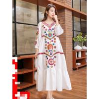 Jelina Bohemian Style Dress Baju Wanita Best Seller CNS