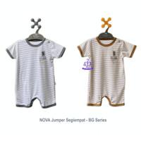 NOVA BG Series Jumper Segiempat - Baju Kodok Bayi Ukuran 0-9 Bulan