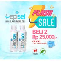 Hepisel - Hand Sanitizer Gel 100 ml (Duo Pack Lebih Murah!)
