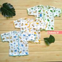 baju bayi laki laki 0 3 bulan / Baju Bayi lengan Pendek Kancing Depan