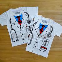 Baju Atasan Kaos Anak Laki Laki Cowok Profesi Dokter Doctor Putih