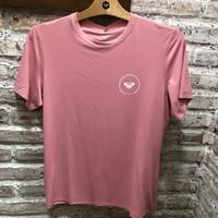 Baju renang rashguard wanita roxy original enjoy waves ss lycra peach